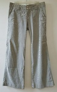 Gap striped cotton wide leg pants